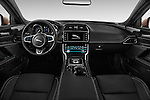Stock photo of straight dashboard view of 2017 Jaguar XE 4dr-Sdn-20d-R-Sport-RWD 4 Door Sedan Dashboard