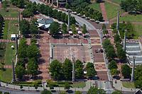 aerial photograph of Centennial Olympic Park, Atlanta, Georgia