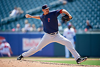 Pawtucket Red Sox relief pitcher Kyle Martin (40) delivers a pitch during a game against the Buffalo Bisons on June 28, 2018 at Coca-Cola Field in Buffalo, New York.  Buffalo defeated Pawtucket 8-1.  (Mike Janes/Four Seam Images)