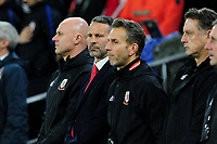 Ryan Giggs Manager of Wales during the UEFA Euro 2020 Qualifier between Wales and Croatia at the Cardiff City Stadium in Cardiff, Wales, UK. Sunday 13 October 2019