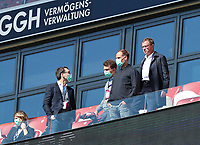 16th May 2020, Red Bull Arena, Leipzig, Germany; Bundesliga football, Leipzig versus FC Freiburg; Oliver Mintzlaff with Mundschutz and Ralf Rangnick