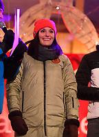27.02.2018, Olympische Winterspiele 2018, Empfang der erfolgreichen Olympia-Sportlerinnen und Sportler aus dem Allgäu am Marktplatz Oberstdorf. Christina Geiger (Ski Alpin, GER). *** Local Caption *** © pixathlon