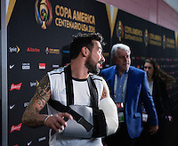 Houston, TX - Tuesday June 21, 2016: Argentina, Ezequiel Lavezzi after a Copa America Centenario semifinal match between United States (USA) and Argentina (ARG) at NRG Stadium.