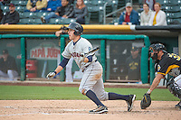 Patrick Kivlehan (27) of the Tacoma Rainiers at bat against the Salt Lake Bees in Pacific Coast League action at Smith's Ballpark on May 7, 2015 in Salt Lake City, Utah.  (Stephen Smith/Four Seam Images)