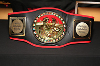 ATLANTIC CITY, NJ - JUNE 9 : Celebrity Boxing Title Belt pictured at the Celebrity Boxing press conference for Friday June 11th fights at The Show Boat Hotel in Atlantic City, New Jersey on June 9, 2021 Credit: Star Shooter/MediaPunch