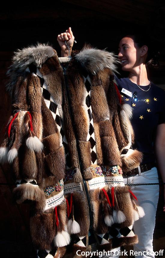 USA, Alaska, im Chena Indian Village bei Fairbanks