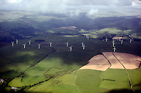 Re: Aerial view of a wind farm near Aberystwyth, Wales. Sunday 14 June 2009<br />