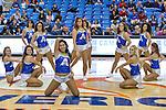 The Texas-Arlington Mavericks dance team in action during the game between the Idaho Vandals and the Texas Arlington Mavericks at the College Park Center arena in Arlington, Texas. Idaho defeats Arlington 77 to 64....