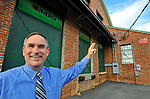Bob Gathany / The Huntsville Times. Inergi Design involved with historic preservation of old Martin Stove Company building by recycling materials from the plant to pay for restoration.  Inergi CEO Austin Boyd in front of Inergi building.