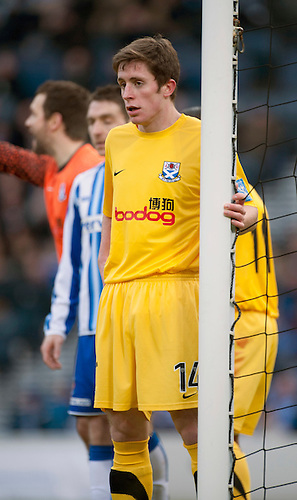 GLASGOW, SCOTLAND - JANUARY 28: Ayr United's Adam Dodd during the Scottish Communities Cup Semi Final match between Ayr United and Kilmarnock at Hampden Park on January 28, 2012 in Glasgow, United Kingdom. (Photo by Rob Casey/Getty Images).