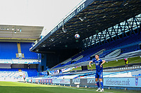 13th September 2020; Portman Road, Ipswich, Suffolk, England, English League One Footballl, Ipswich Town versus Wigan Athletic; Stephen Ward of Ipswich Town takes a throw overlooked by a empty stand
