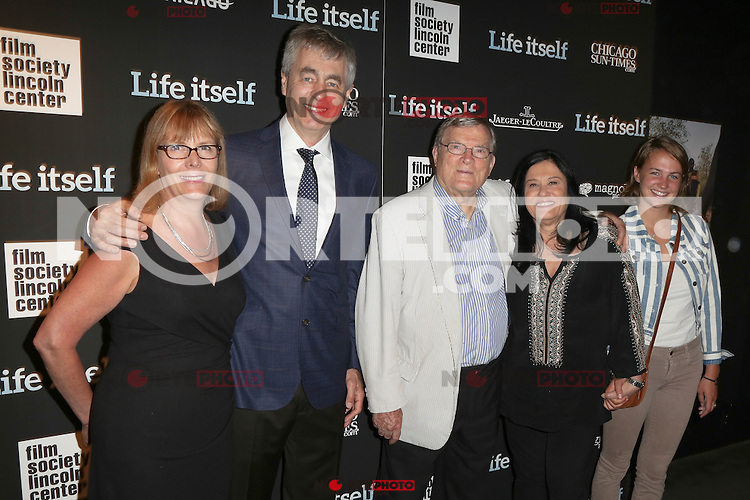New York, NY - June 23 : (L-R) Chris Hegedus, Steve James, D.A. Pennybaker, Barbara Kopple and niece ttend the New York Premiere of Life Itself<br /> held at the Film Society of Lincoln Center Walter Reade Theater<br /> on June 23, 2014 in New York City. Photo by Brent N. Clarke / Starlitepics