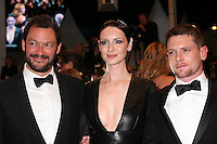 DOMINIC WEST, CAITRIONA BALFE AND JACK O'CONNELL - RED CARPET OF THE FILM 'MONEY MONSTER' AT THE 69TH FESTIVAL OF CANNES 2016
