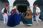 Spanien, Balearen, Ibiza (Eivissa): Folkloreveranstaltung in Sant Miquel de Balansat | Spain, Balearic Islands, Ibiza (Eivissa): Folk dance at Sant Miquel de Balansat