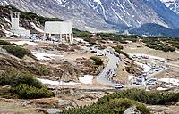 grupetto up the Passo San Bernardino (2065m/SUI)<br /> <br /> 104th Giro d'Italia 2021 (2.UWT)<br /> Stage 20 (through Switzerland) from Verbania to Valle Spluga-Alpe Motta (164km)<br /> <br /> ©kramon