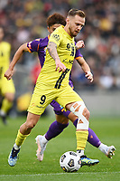30th May 2021; Auckland, New Zealand;  David Ball breaks past his marker.<br /> Wellington Phoenix versus Perth Glory, A-League football at Eden Park.
