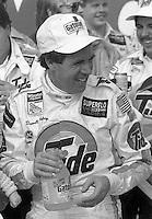 Darrell Waltrip victory lane wins twin 125 qualifier for Daytona 500 at Daytona International Speedway in Daytona Beach, FL on February 14, 1988. (Photo by Brian Cleary/www.bcpix.com)
