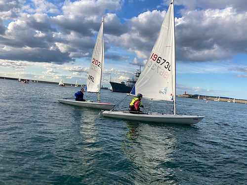 In the new Laser Masters Novice Cup in Dun Laoghaire, participants will race in the same races as all other sailors but will only have the scores from their two best race results across both days