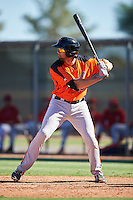 San Francisco Giants Dillon Dobson (28) during an Instructional League game against the Los Angeles Angels of Anaheim on October 13, 2016 at the Tempe Diablo Stadium Complex in Tempe, Arizona.  (Mike Janes/Four Seam Images)