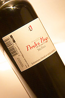 A bottle of Piedra Negra Malbec Special Reserve Bodega Jacques and Francois Lurton Mendoza Valle de Uco The Dolly Irigoyen - famous chef and TV presenter - private restaurant, Buenos Aires Argentina, South America Espacio Dolli