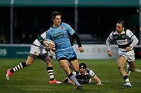 Tom Griffiths of London Scottish runs towards the touchline during the Greene King IPA Championship match between Ealing Trailfinders and London Scottish Football Club at Castle Bar , West Ealing , England  on 19 January 2019. Photo by Carlton Myrie/PRiME Media Images