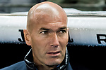 Manager Zinedine Zidane of Real Madrid looks on prior to the La Liga 2017-18 match between RCD Espanyol and Real Madrid at RCDE Stadium on 27 February 2018 in Barcelona, Spain. Photo by Vicens Gimenez / Power Sport Images