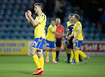 Kilmarnock v St Johnstone…..04.12.19   Rugby Park   SPFL<br />Callum Booth applauds th saints fans at full time<br />Picture by Graeme Hart.<br />Copyright Perthshire Picture Agency<br />Tel: 01738 623350  Mobile: 07990 594431