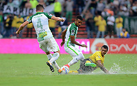 MEDELLIN -COLOMBIA, 20-8-2017.Atlético Nacional y Alianza Petrolera durante partido por la fecha 9 de la Liga Aguila II 2017 jugado en el estadio Atanasio Girardot de la ciudad de Medellín. / Atlético Nacional  and Alianza Petrolera during match for the date 9 of the Aguila League II 2017 played at Atanasio Girardot stadium in Medellin city. Photo:VizzoImage /León Monsalve  / Stringer
