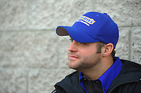 Apr. 1, 2012; Las Vegas, NV, USA: NHRA funny car driver Matt Hagan during the Summitracing.com Nationals at The Strip in Las Vegas. Mandatory Credit: Mark J. Rebilas-