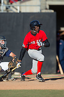 Eric Jenkins (13) of West Columbus High School in Cerro Gordo, North Carolina playing for the Boston Red Sox scout team at the South Atlantic Border Battle at Doak Field on November 2, 2014.  (Brian Westerholt/Four Seam Images)