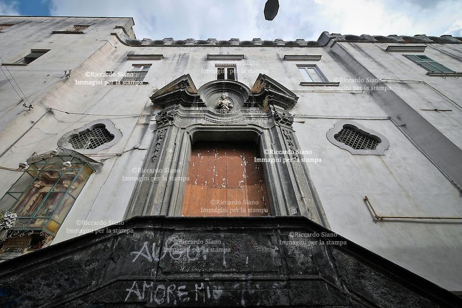 - NAPOLI 22 OTT 2014 - Salita Pontecorvo 45. L'ex istituto minorile Filangieri, oggi abbandonato
