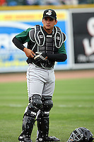 June 17th 2008:  Jose Felix of the Clinton Lumberkings, Class-A affiliate of the Texas Rangers, during the Midwest League All-Star Game at Dow Diamond in Midland, MI.  Photo by:  Mike Janes/Four Seam Images