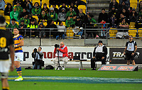Photographers watch the Mitre 10 Cup Championship final match between Wellington Lions and Northland Taniwha at Westpac Stadium in Wellington, New Zealand on Friday, 27 October 2017. Photo: Dave Lintott / lintottphoto.co.nz