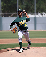 Yorlenis Noa - Oakland Athletics 2019 extended spring training (Bill Mitchell)