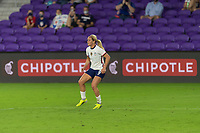 ORLANDO CITY, FL - FEBRUARY 18: Lindsey Horan #9 waits for the pass to arrive during a game between Canada and USWNT at Exploria stadium on February 18, 2021 in Orlando City, Florida.
