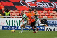 22nd August 2020; Tannadice Park, Dundee, Scotland; Scottish Premiership Football, Dundee United versus Celtic; Scott Brown of Celtic goes past Louis Appere of Dundee United