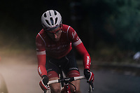 Bauke Mollema (NED/Trek-Segafredo) dropped from the main group, getting to the finish solo<br /> <br /> 76th Paris-Nice 2018<br /> Stage 8: Nice > Nice (110km)