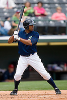 Stefan Gartrell #31 of the Charlotte Knights at bat against the Columbus Clippers at Knights Stadium May 25, 2010, in Fort Mill, South Carolina.  Photo by Brian Westerholt / Four Seam Images