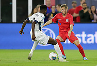 WASHINGTON, D.C. - OCTOBER 11: Jackson Yueill #14 of the United States turns with the ball during their Nations League game versus Cuba at Audi Field, on October 11, 2019 in Washington D.C.