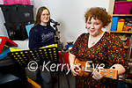 Molly Brosnan (front) with Caoimhe Burke practicing for their live stream concert fundraiser in aid of  Pieta House. The concert takes place on Saturday night in Collis Sandes House from 7pm to 9pm.