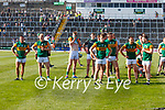 The Kerry team after the Munster GAA Football Senior Championship Final match between Kerry and Cork at Fitzgerald Stadium in Killarney on Sunday.