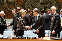 New York, Sept 26, 2013 Australian Foreign Minister Julie Bishop chairs a UN Security Council High-Level Debate on Small Arms. photo by Trevor Collens.