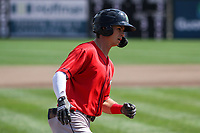 Cedar Rapids Kernels outfielder Michael Helman (2) rounds third base following a home run during a game against the Wisconsin Timber Rattlers on September 8, 2021 at Neuroscience Group Field at Fox Cities Stadium in Grand Chute, Wisconsin.  (Brad Krause/Four Seam Images)
