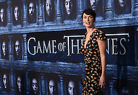 Lena Headey @ the Los Angeles premiere of HBO 'Game of Thrones' season 6 held @ the Chinese theatre.<br /> April 10, 2016