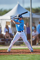 Ryan Ross during the WWBA World Championship at the Roger Dean Complex on October 19, 2018 in Jupiter, Florida.  Ryan Ross is a shortstop from Elmhurst, Illinois who attends York Community High School and is committed to Cornell.  (Mike Janes/Four Seam Images)