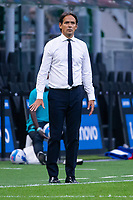 Milan, Italy - september 18 2021 - simone inzaghi f.c. inter trainer during  Serie A match Inter- Bologna San Siro stadium