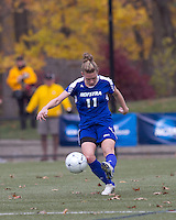 Hofstra University defender Dana Bergstrom (11) clears the ball. Boston College defeated Hofstra University, 3-1, in second round NCAA tournament match at Newton Soccer Field, Newton, MA.