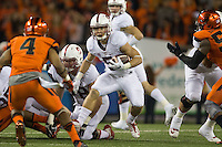 CORVALLIS, OR -- September 25, 2015: The Stanford Cardinal defeates the Oregon State Beavers 42-24 at Reser Stadium in Corvallis, Oregon.