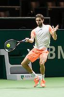 ABN AMRO World Tennis Tournament, Rotterdam, The Netherlands, 16 Februari, 2017, Gilles Simon (FRA)<br /> Photo: Henk Koster
