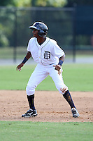 Detroit Tigers minor league outfielder P.J. Polk (60) vs. the Philadelphia Phillies during an Instructional League game at Tiger Town in Lakeland, Florida;  October 12, 2010.  Photo By Mike Janes/Four Seam Images